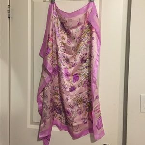 100% Silk floral scarf